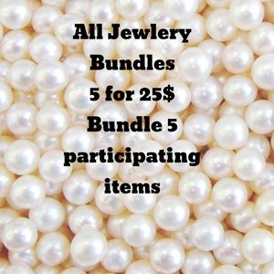 Bundle 5 INDIVIDUAL jewelry items 5 for 25$